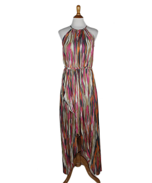 Calypso Pink Multi Silk Dress