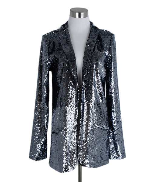 Calypso Metallic Silver Sequins Jacket 1