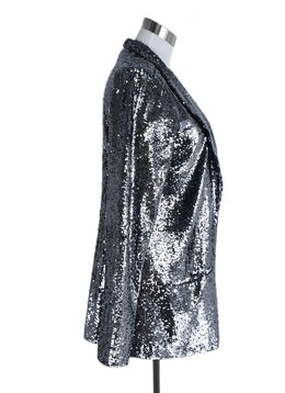 Calypso Metallic Silver Sequins Jacket 2