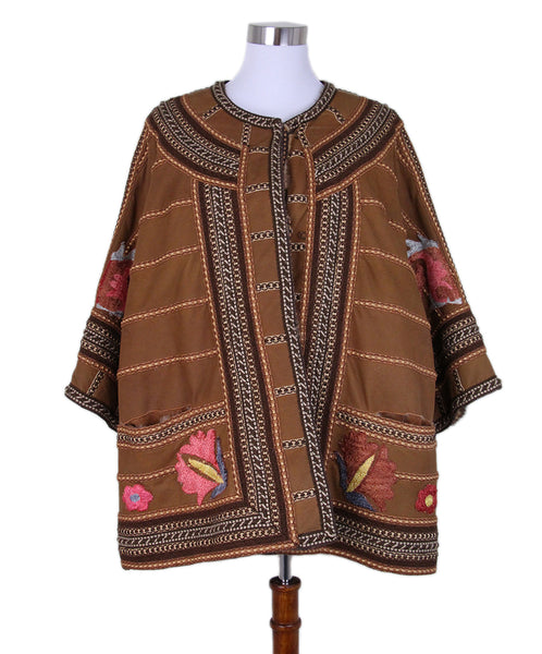 Carlo Tivioli Brown Mink Multi Embroidery Coat 1