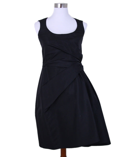 Carolina Herrera Black Silk Evening Dress 1
