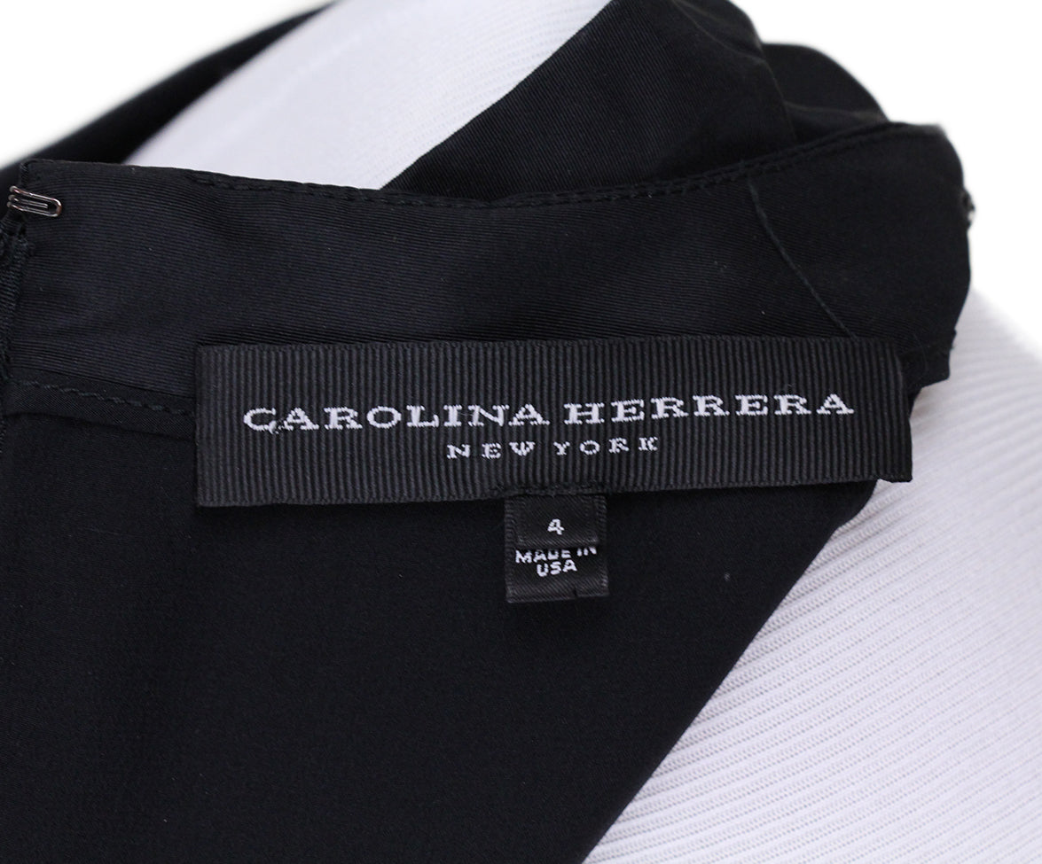 Carolina Herrera Black Silk Evening Dress 4