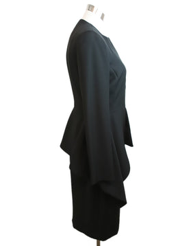 Carolina Herrera Black Triacetate Polyester Skirt Suit 2