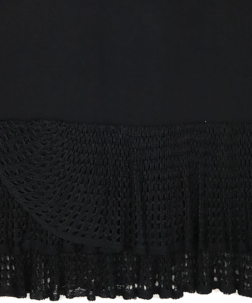 Carolina Herrera Black Viscose Crochette Skirt 3