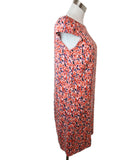 Carolina Herrera Size 6 Red Multi Floral Print Silk Dress 2