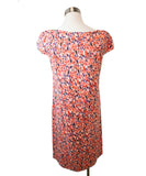 Carolina Herrera Size 6 Red Multi Floral Print Silk Dress 3