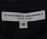 Carolina Herrera Navy Textured Chevron Skirt sz. 10 | Carolina Herrera