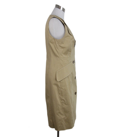 Carolina Herrera khaki cotton dress 1
