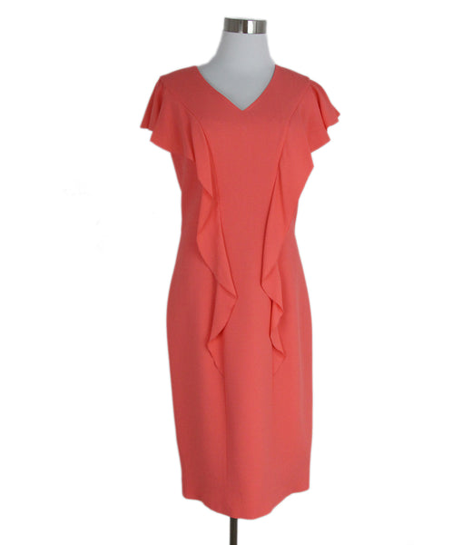 Carolina Herrera peach silk dress 1