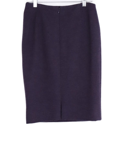Carolina Herrera Purple Plum Wool Pencil Skirt 1