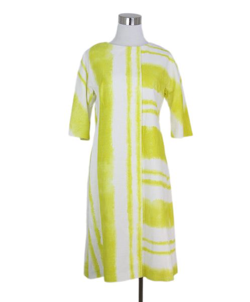 Carolina herrera white yellow dress 1