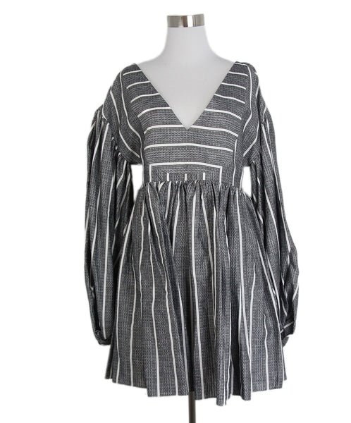 Caroline Constas Black White Cotton Dress 1