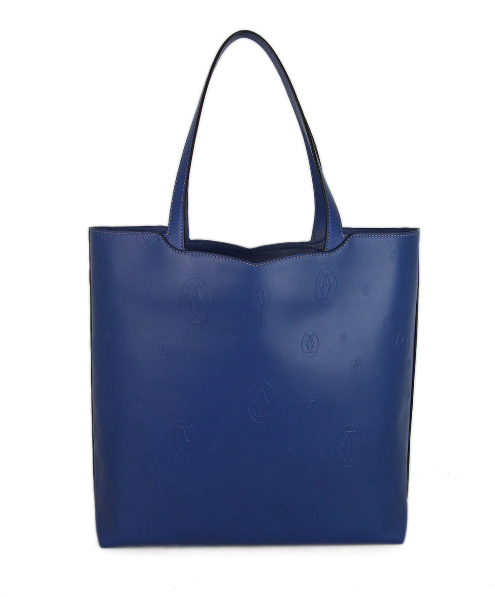 Cartier Blue Leather Tote 1