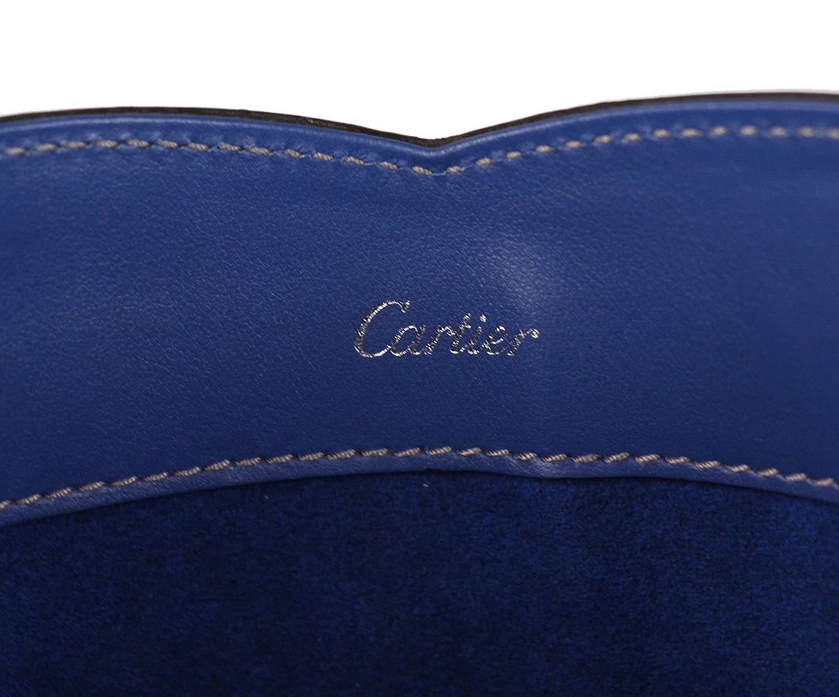 Cartier Blue Leather Tote 6