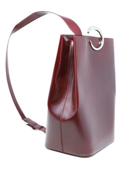 Cartier Burgundy Leather Handbag 2