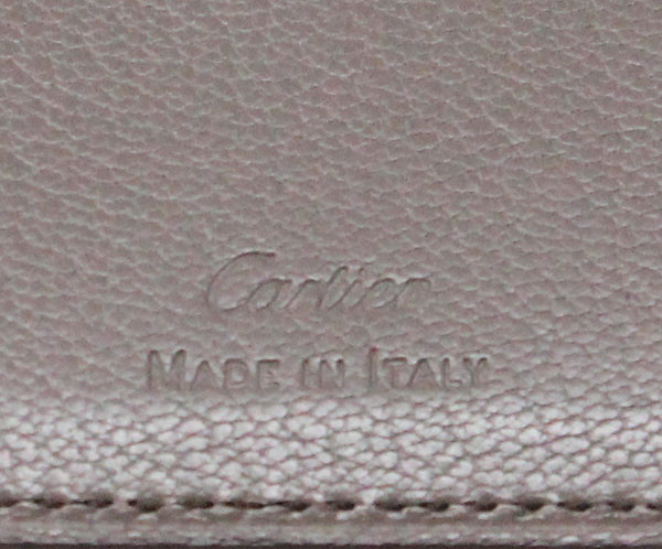 Cartier Red Taupe Leather W/Pouch Leather Goods 6