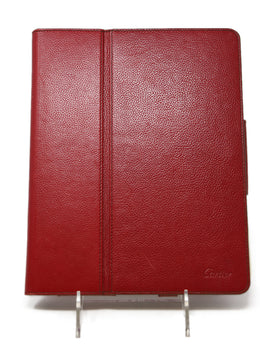 Cartier Red Leather Ipad Case 1