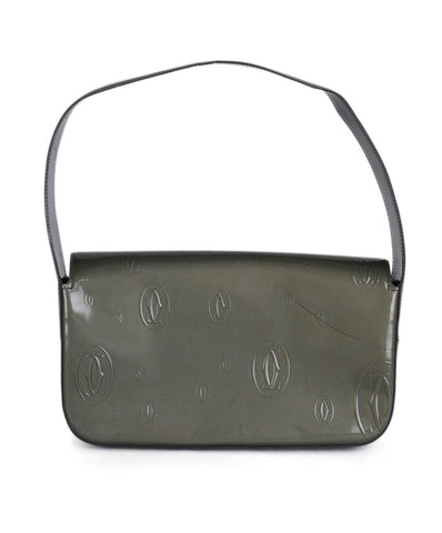 Cartier Green Olive Patent Leather Handbag 1