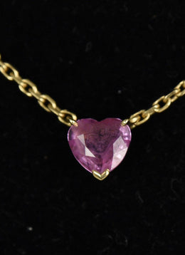 Cartier Pink Sapphire 18 K Gold Necklace 5