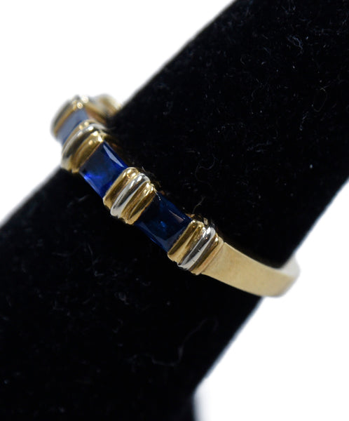 Cartier Yellow 18 K Gold Blue Sapphire Ring 2