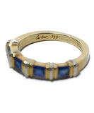 Cartier Yellow 18 K Gold Blue Sapphire Ring 3