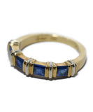 Cartier Yellow 18 K Gold Blue Sapphire Ring 4