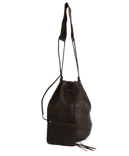 Carvana Deep Brown Leather Hobo Bag 4