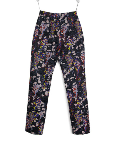 Carven Black Purple Pink Polyamide Pants 1