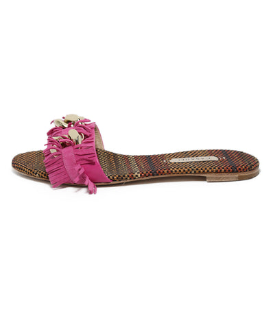 Casadei Pink Leather Sandals 1