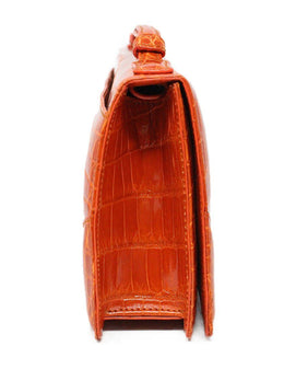 Cece Cord Orange Crocodile Handbag 1