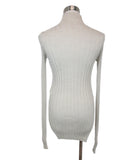 Celine Neutral Beige Ribbed Knit Turtleneck Longsleeve Top 3