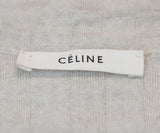 Celine Neutral Beige Ribbed Knit Turtleneck Longsleeve Top 4