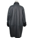 Celine Black Grey Shearling Coat 4