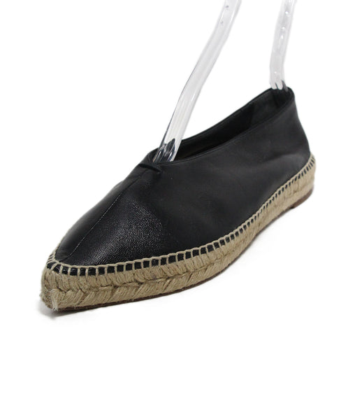 Celine Black Leather Espadrilles Flats 1