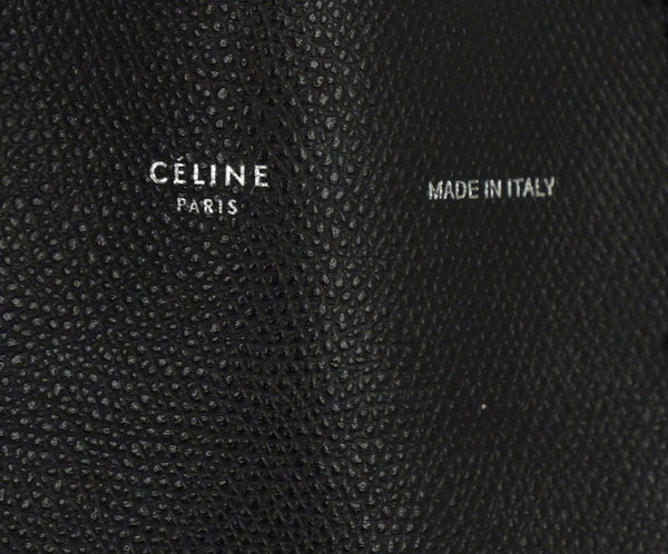 Celine Black Leather Shoulder Bag 6