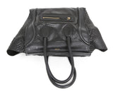 Tote Gold Hardware Zipper Leather Celine Black Snake Skin Leather Handbag 5