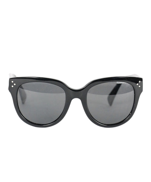 "Celine Black Acrylic ""as is"" W/Case Sunglasses"