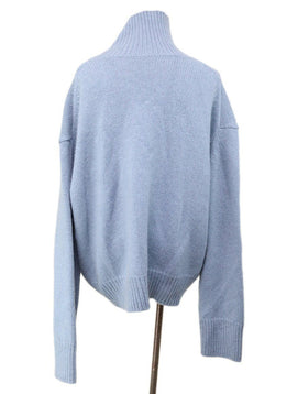 Turtleneck Celine Blue Cashmere Sweater 5