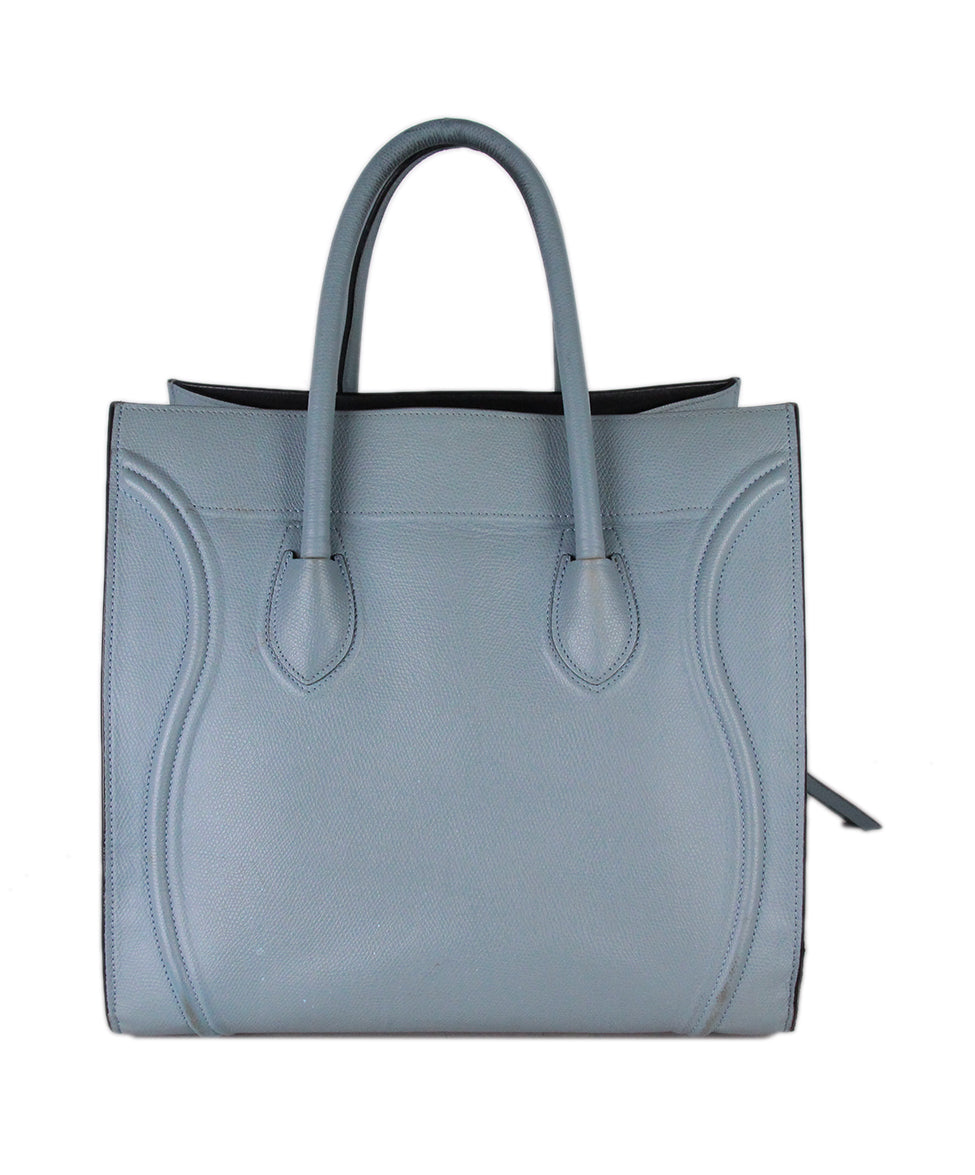 Celine Blue Leather Tote 3