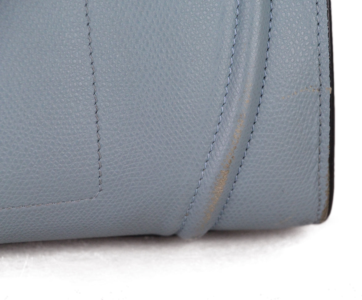 Celine Blue Leather Tote 8