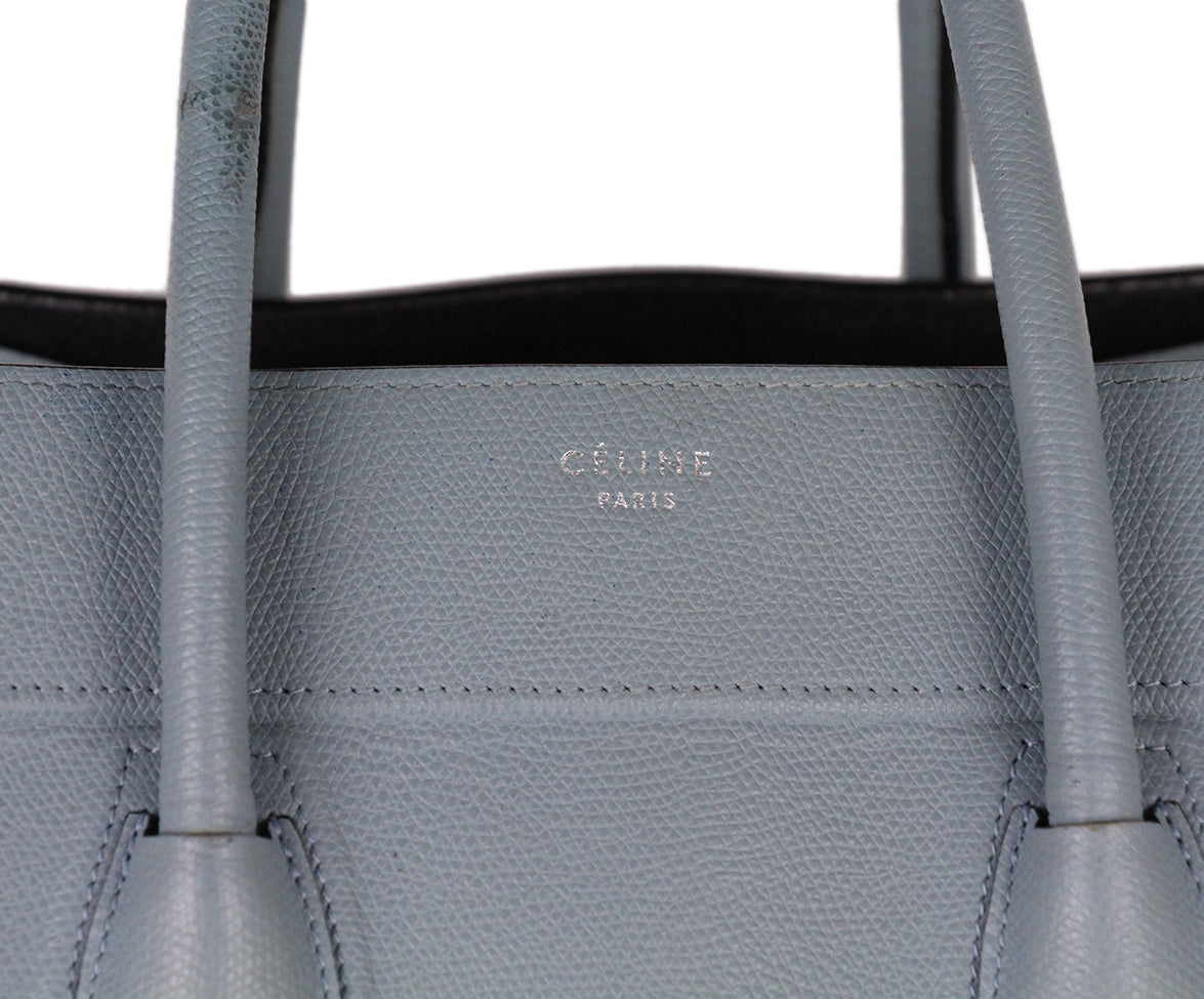 Celine Blue Leather Tote 10