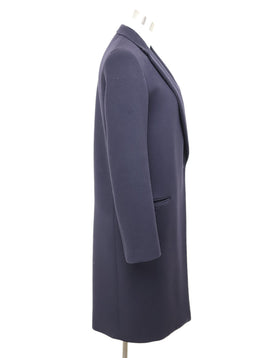 Celine Blue Navy Wool Outerwear 1
