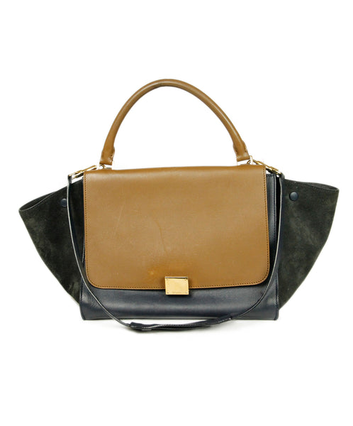 Celine Brown Blue Handbag 1