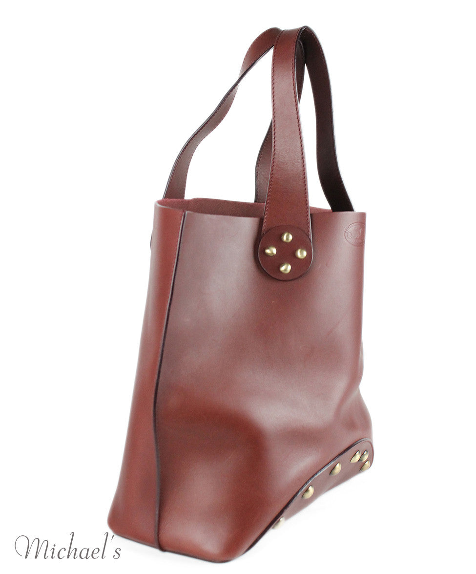 Celine Brown Burgundy Leather Handbag - Michael's Consignment NYC  - 2