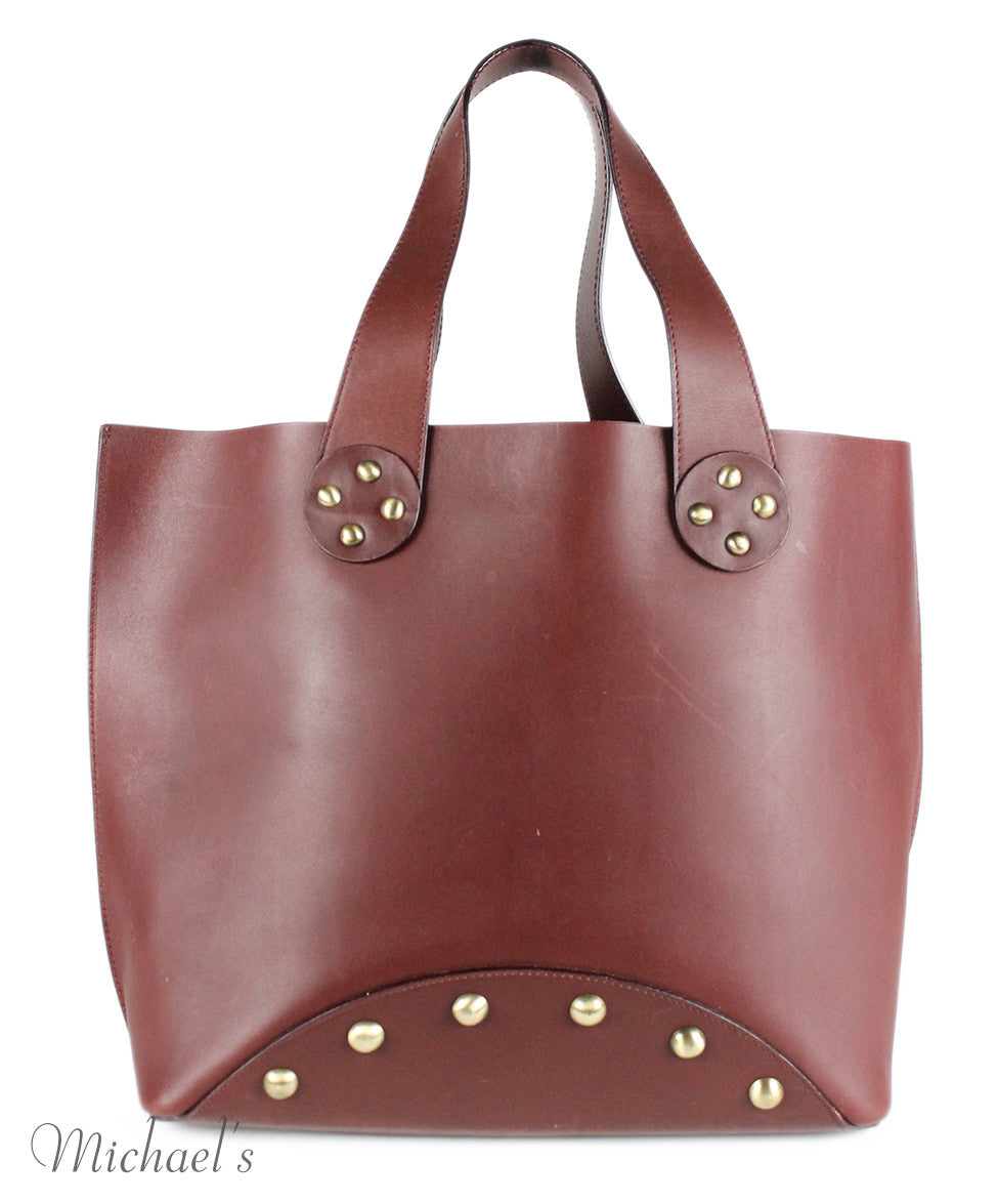 Celine Brown Burgundy Leather Handbag - Michael's Consignment NYC  - 3