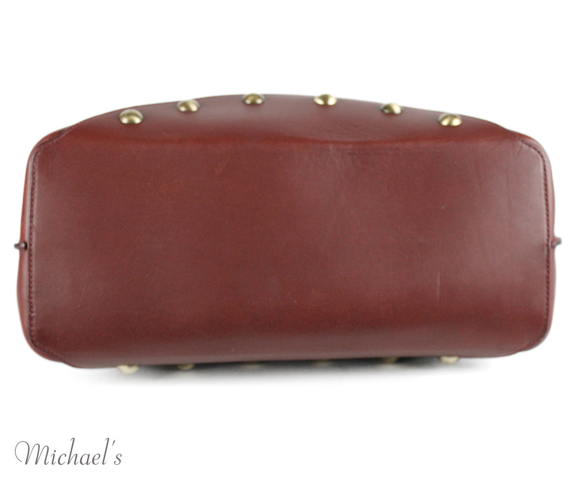 Celine Brown Burgundy Leather Handbag - Michael's Consignment NYC  - 4