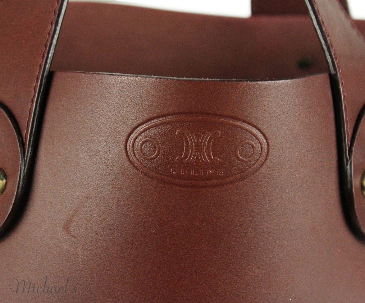 Celine Brown Burgundy Leather Handbag - Michael's Consignment NYC  - 5
