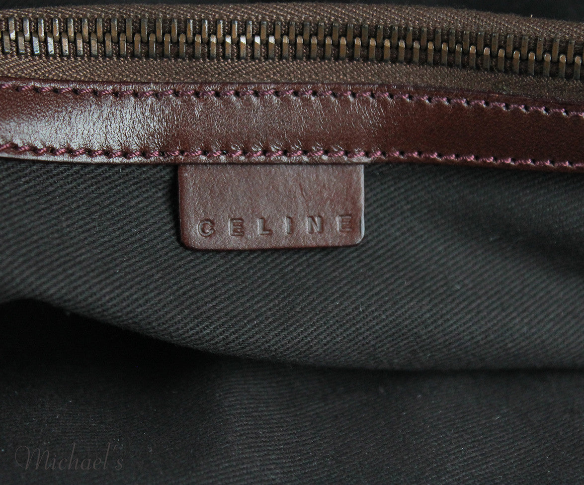 Celine Brown Corduroy Leather Bag - Michael's Consignment NYC  - 8