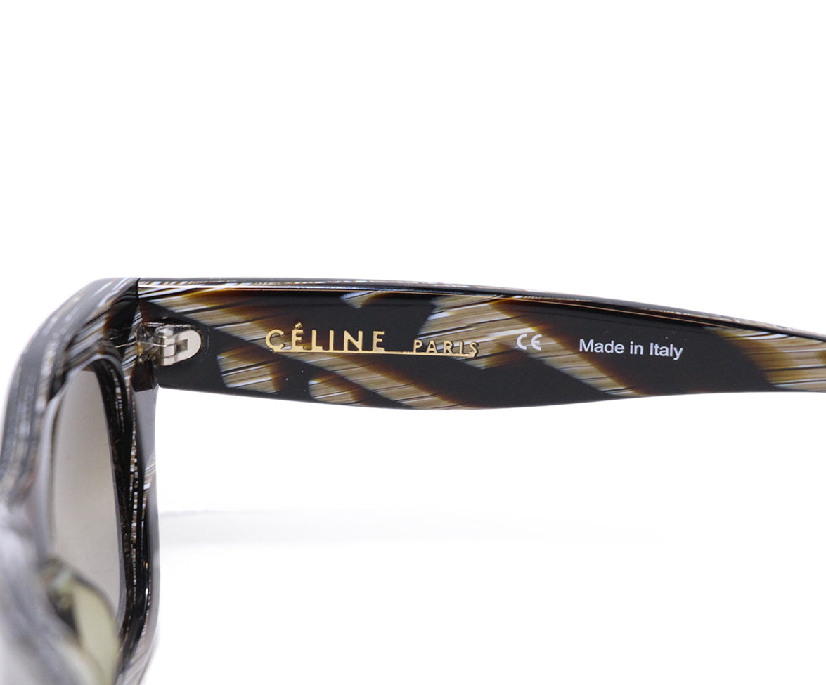 Celine Brown White Frame Sunglasses 5