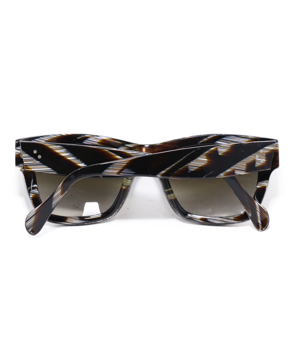 Celine Brown White Frame Sunglasses 2